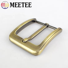 将图片加载到图库查看器,2/10pcs Meetee 40mm Men Belt Buckles Brushed Metal Pin Buckle for 37-38mm Jeans Leather Replacement Garment Decor Accessories