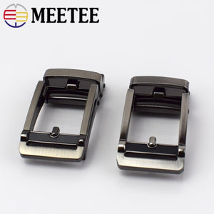 Meetee 32mm Men Automatic Belt Buckles Metal Buckle for 30-31mm Waistband Belts Head DIY Leathercraft Jeans Accessories YK134