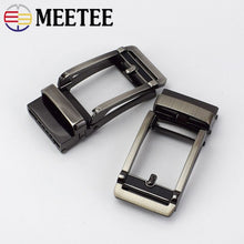 Load image into Gallery viewer, Meetee 32mm Men Automatic Belt Buckles Metal Buckle for 30-31mm Waistband Belts Head DIY Leathercraft Jeans Accessories YK134