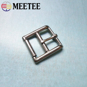 Meetee 1pc/2pcs ID35mm Stainless Steel Belt Buckles Roller Pin Buckle Belts Head DIY Bags Strap Adjust Clasp Leather Material