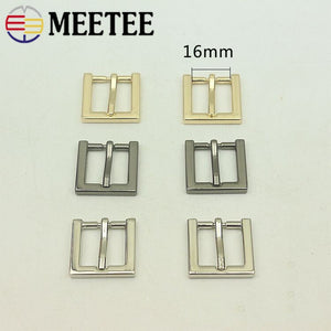 5pcs Meetee 13/16/20/25mm Metal Buckles for Bag Handbag Shoes Strap Belt Pin Buckle Webbing Snap Hooks DIY Leather Crafts BF344