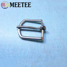 Load image into Gallery viewer, Meetee 1pc/2pcs 25mm Stainless Steel Belt Buckle Metal Pin Clasps Closure Strap Adjust Hook DIY Luggage Shoe Hardware PartsYK097