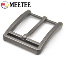 将图片加载到图库查看器,Meetee 2/5pcs 40mm Metal Pin Buckle Belts Head for Men Waistband Alloy Belt Buckles DIY Leather Crafts Hardware Accessory YK071