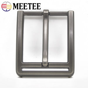 Meetee 2/5pcs 40mm Metal Pin Buckle Belts Head for Men Waistband Alloy Belt Buckles DIY Leather Crafts Hardware Accessory YK071
