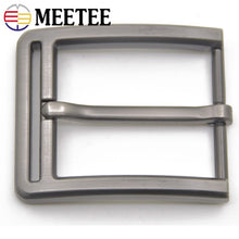 Load image into Gallery viewer, Meetee 2/5pcs 40mm Metal Pin Buckle Belts Head for Men Waistband Alloy Belt Buckles DIY Leather Crafts Hardware Accessory YK071
