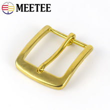 Load image into Gallery viewer, Meetee Solid Brass Metal Belt Buckle Men Women Pin Buckles Head For Waistband 37-38mm DIY Leather Craft Jeans Accessories