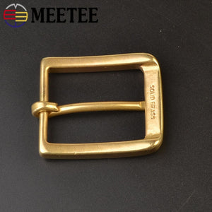 1/2pcs Solid Brass Metal Belt Buckle Men Women Pin Buckles Head for Belts 37-38mm DIY Leather Craft Jeans Accessories YK198