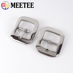 Meetee 1pc/2pcs ID31mm Stainless Steel Belt Buckles for Female 29-30mm Belts Pin Buckle Head DIY Wild Pants Heads Material YK072