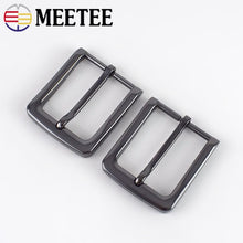 将图片加载到图库查看器,Meetee 1/2pc ID35mm Alloy Pin Buckles Belt Head Men Metal Brushed Buckle DIY Leathercraft for Men's Belts Jeans Accessories