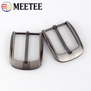 Meetee 2/5pcs Fashion Men Belt Buckles Metal Pin Buckle for 32-33mm Belts Head DIY Leather Craft Hardware Jeans Accessory YK170