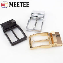 Load image into Gallery viewer, Meetee Business Casual Men's DIY Leather Belt Buckle Automatic Belts Pin Rotating Buckles Cowboy Jean Accessories AP233
