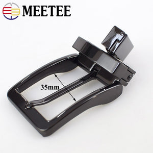 Meetee Business Casual Men's DIY Leather Belt Buckle Automatic Belts Pin Rotating Buckles Cowboy Jean Accessories AP233