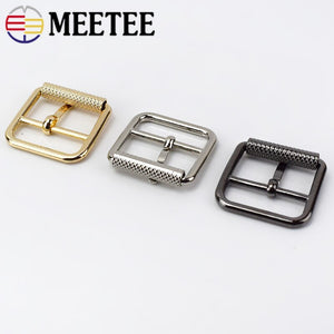 Meetee 5/10pc 25mm Pin Belt Buckle for Bags Straps Ring Adjust Roller Buckles DIY Clothing Belts Leather Sewing Accessory YK131