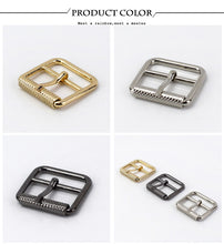 将图片加载到图库查看器,Meetee 5/10pc 25mm Pin Belt Buckle for Bags Straps Ring Adjust Roller Buckles DIY Clothing Belts Leather Sewing Accessory YK131