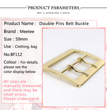 Load image into Gallery viewer, 2Pcs Meetee High Quality Double Pins Belt Buckle For Men Spare Adjustable Bag Buckles Replacement DIY Garment Accessories BF112