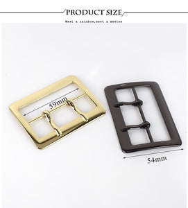 2Pcs Meetee High Quality Double Pins Belt Buckle For Men Spare Adjustable Bag Buckles Replacement DIY Garment Accessories BF112