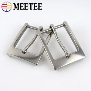 Meetee 35mm Solid Stainless Steel Pin Belt Buckles for 33-34MM Men's Needle Belts Head Jeans Hardware Accessories ZK842