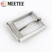 将图片加载到图库查看器,Meetee 35mm Solid Stainless Steel Pin Belt Buckles for 33-34MM Men's Needle Belts Head Jeans Hardware Accessories ZK842