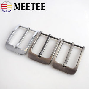 Meetee 1/2pcs 35mm Pin Belt Buckle Women Men's Metal Cowboy Buckle DIY Leather Craft Jeans Accessories Supply for 3.3-3.4cm Belt