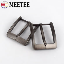 将图片加载到图库查看器,2Pcs Brush Matte Belt Buckles Metal Pin Buckle For Belts 38-39mm Replacement Waistband Head Clasp DIY Jeans Apparel Accessories
