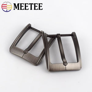 2Pcs Brush Matte Belt Buckles Metal Pin Buckle For Belts 38-39mm Replacement Waistband Head Clasp DIY Jeans Apparel Accessories