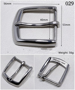 Meetee 1pc 40mm Stainless Steel Belt Buckles High-grade Leisure Pin Buckle Belts Lead DIY Leather Crafts Cowboy Decoration YK007