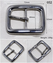 Load image into Gallery viewer, Meetee 1pc 40mm Stainless Steel Belt Buckles High-grade Leisure Pin Buckle Belts Lead DIY Leather Crafts Cowboy Decoration YK007