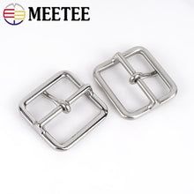 将图片加载到图库查看器,1pc Stainless Steel Belt Buckle Men Women Metal Pin Buckles for Belts 37-38mm DIY Leather Crafts Accessories YK182