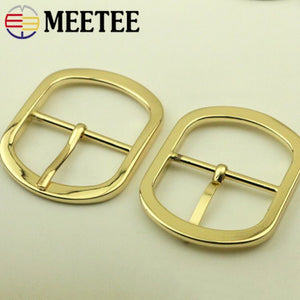 Meetee 38mm 2/4pcs Rectangle Belt Webbing Pin Buckles for Bags Handbag Straps Wire-formed Roller Adjuster DIY Accessories F3-23