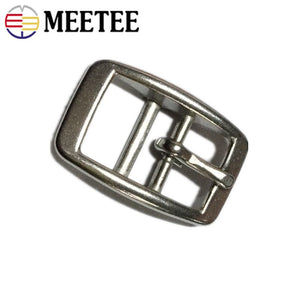 Meetee 1pc/2pcs 13/17/20/27mm Stainless Steel Belt Buckle Shoulder Strap Adjust Pin Buckles Head Band Clasp Harness Accessories