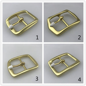 Meetee DIY Leather Craft 40mm Width Pin Buckle Belt Buckle for Men Women's Pure Copper Buckle Jeans Accessory for 3.7-3.9cm Belt