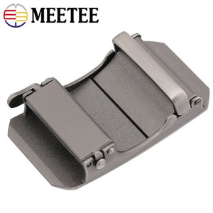 1Pc Meetee Business Men Metal Buckles For Belts 34-35mm Belt Automatic Buckle Boucle De Ceinture DIY Leather Crafts