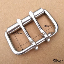 将图片加载到图库查看器,1PC ID52/60/102mm Stainless Steel Double Needle Belt Buckle Anti-allergy Metal Pin Buckles Head DIY Belts Bag Hardware Accessory