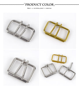 1PC ID52/60/102mm Stainless Steel Double Needle Belt Buckle Anti-allergy Metal Pin Buckles Head DIY Belts Bag Hardware Accessory