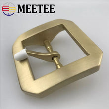 Load image into Gallery viewer, MEETEE NEW 1pcs Men Women belt buckle Pure copper Buckles star anise brass DIY Belt Buckles Sewing Accessories 40mm ZK2016