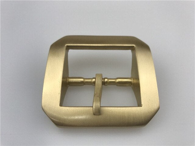 MEETEE NEW 1pcs Men Women belt buckle Pure copper Buckles star anise brass DIY Belt Buckles Sewing Accessories 40mm ZK2016
