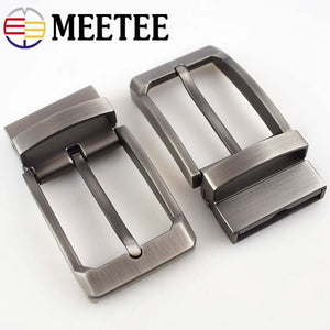 Meetee 1pcs 35mm Alloy Double-sided Rotating Tail Belt Buckle Metal Pin  DIY Leather Craft Clothes Decor Accessories BD380
