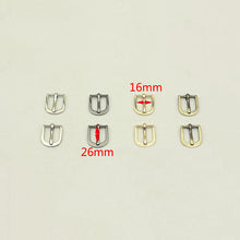 Load image into Gallery viewer, Meetee 5pcs 12/16/19mm Metal Pin Buckle Bags Strap Adjustment Hook Clasp DIY Garment Decor Button Shoes Belt Buckles Accessories