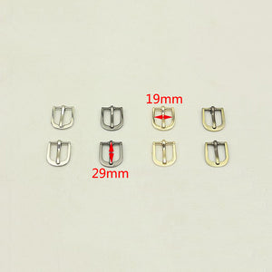 Meetee 5pcs 12/16/19mm Metal Pin Buckle Bags Strap Adjustment Hook Clasp DIY Garment Decor Button Shoes Belt Buckles Accessories