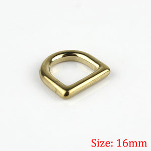 1leathercraft Solid brass cast rigging D ring saddle pet dog collar strap webbing harness Dee ring Leather craft bag luggage hardware acce
