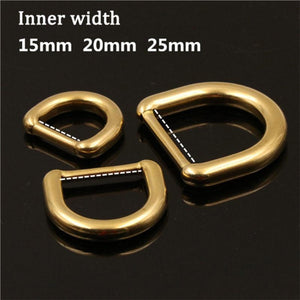 M36 1 x Solid Brass Molded D ring Buckle for Leather Craft Bag Purse Strap Belt Webbing Dog Collar 15/20/25mm