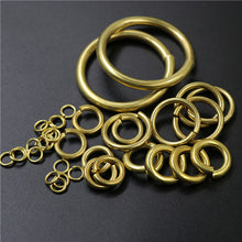 将图片加载到图库查看器,20pcs Solid brass Open O ring seam Round jump ring Garments shoes Leather craft bag Jewelry findings repair connectors