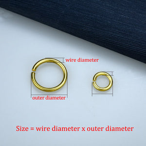 20pcs Solid brass Open O ring seam Round jump ring Garments shoes Leather craft bag Jewelry findings repair connectors