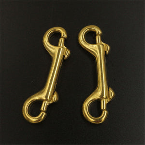 Solid brass Double End Snap Hook Bolt Trigger Clip Heavy Duty Luggage Pet Rope Leashes Clip High Strength
