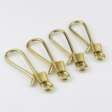 将图片加载到图库查看器,1pcs Solid Brass Retro Wire Winding Keychain Belt U Hook Fish Hook Fob Clip 2 sizes Available