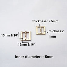 将图片加载到图库查看器,1 pcs Zinc Alloy Metal Belt Buckle End Bar Heel Bar Roller Buckle Single Pin Half Buckle Bag Leather Craft Strap Garment Webbing