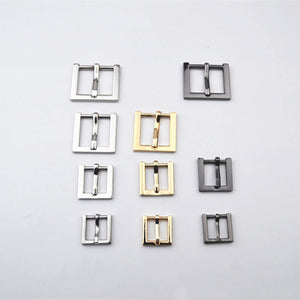 1 pcs Zinc Alloy Metal Belt Buckle End Bar Heel Bar Roller Buckle Single Pin Half Buckle Bag Leather Craft Strap Garment Webbing