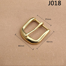 Load image into Gallery viewer, 1pcs Solid Brass 35mm Belt Buckle End Bar Heel Bar Buckle Middle Center Bar Buckle Single Pin Heavy-duty for Leather Craft Strap