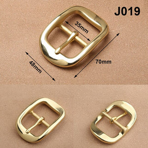 1pcs Solid Brass 35mm Belt Buckle End Bar Heel Bar Buckle Middle Center Bar Buckle Single Pin Heavy-duty for Leather Craft Strap
