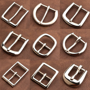 1pcs Stainless Steel Belt Buckle End Bar Heel bar Buckle Single Pin Heavy-duty For Leather Craft Strap Jeans Webbing Dog Collar